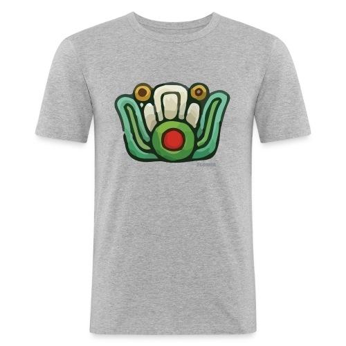 Aztec Flower Color - Men's Slim Fit T-Shirt
