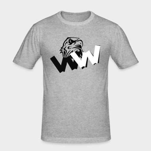 White and Black W with eagle - Men's Slim Fit T-Shirt