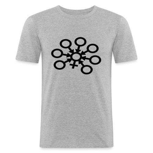 GangBang Symbol einfarbig - Männer Slim Fit T-Shirt
