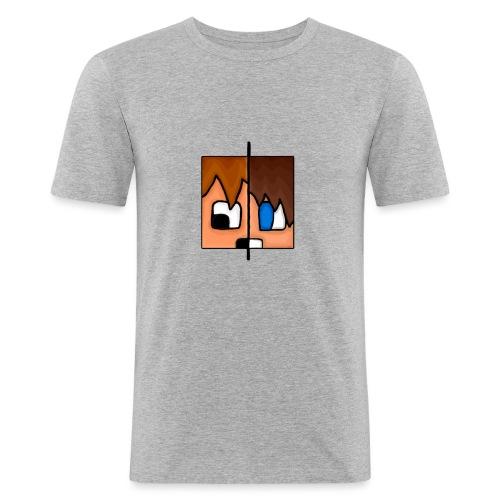 To Menn, Ett Hode (Dame) - Slim Fit T-skjorte for menn