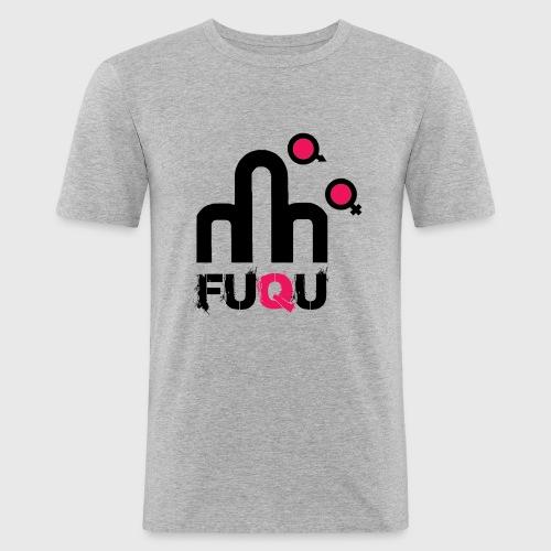 T-shirt FUQU logo colore nero - Maglietta aderente da uomo