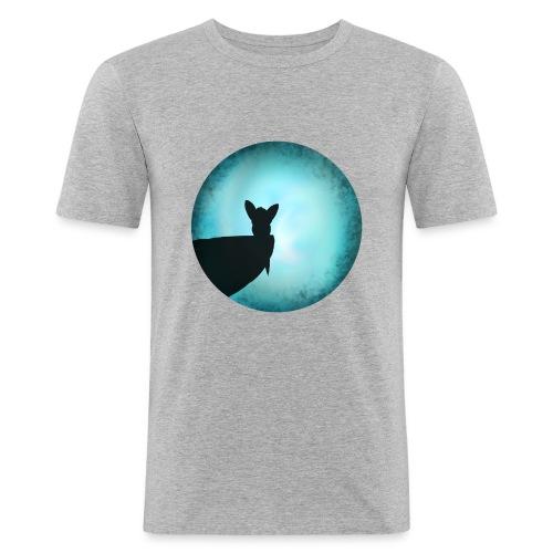Tier im Mondlicht - Männer Slim Fit T-Shirt