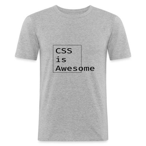 cssawesome - black - Mannen slim fit T-shirt