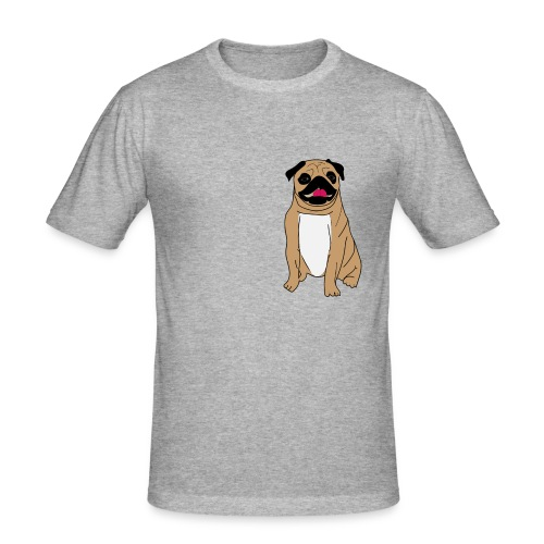 Puggie - Miesten tyköistuva t-paita