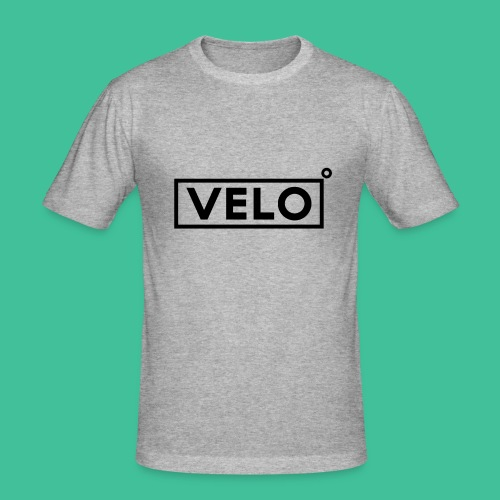 Velo Icon Blk - Long Sleeve Baseball Shirt W/N Clr - Men's Slim Fit T-Shirt