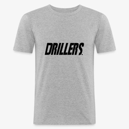 Drillers   BlackText - Men's Slim Fit T-Shirt