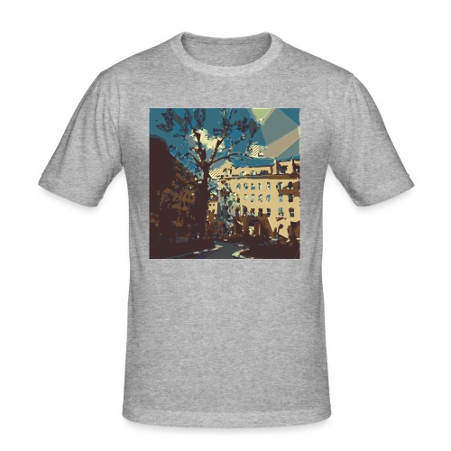 Abstrakt Budapest - Männer Slim Fit T-Shirt