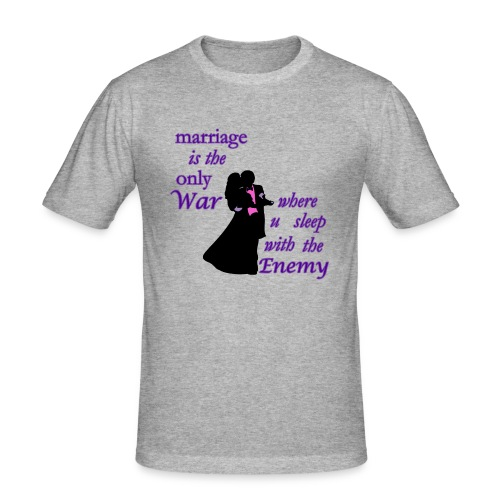 marriage_funny tshirts - Men's Slim Fit T-Shirt