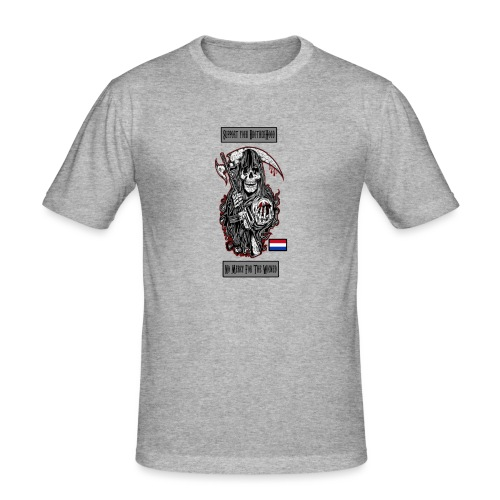 supportweared - Mannen slim fit T-shirt
