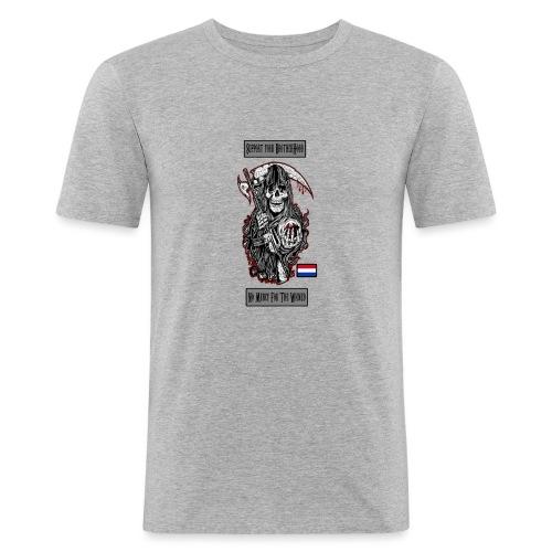 supportweared - Mannen slim fit T-shirt