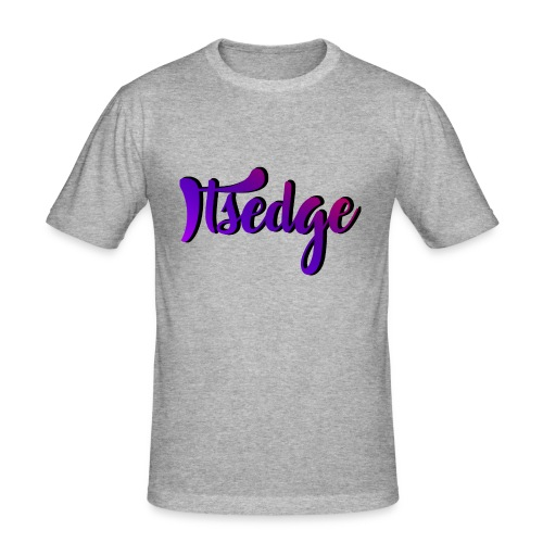 ItsEdge Signature Purple - Men's Slim Fit T-Shirt