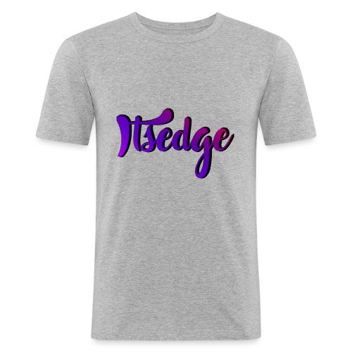 ItsEdge Signature Purple - Men's Slim Fit T-Shirt