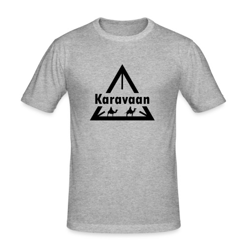 Karavaan Black (High Res) - Mannen slim fit T-shirt