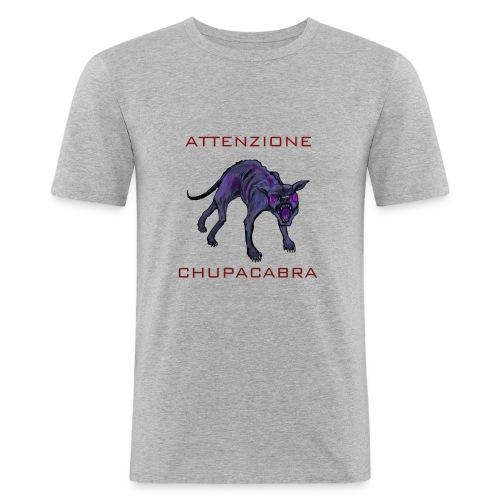 chupacabra Warnung - Männer Slim Fit T-Shirt