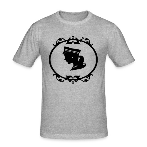 Mädel oval 1 farbig - Männer Slim Fit T-Shirt