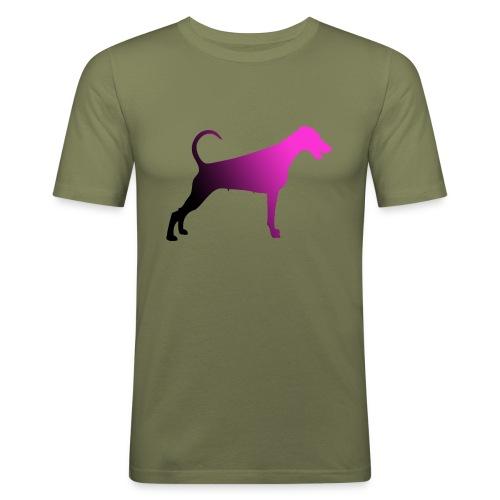 Dobermannfemnatpinkblack2 - Miesten tyköistuva t-paita