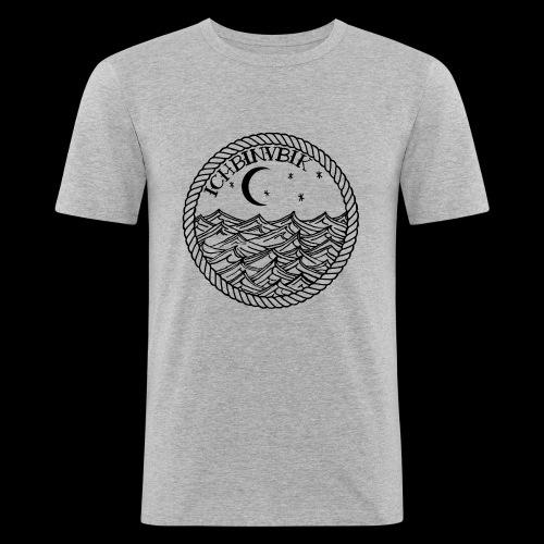 IBV Die Lichter das Meer black - Männer Slim Fit T-Shirt