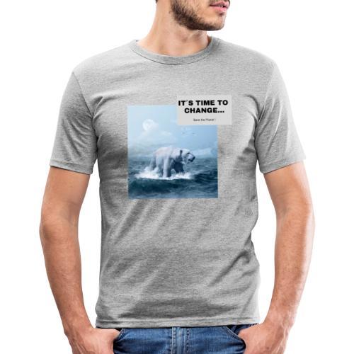 It s Time to Change - Männer Slim Fit T-Shirt