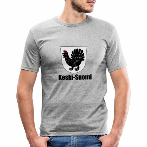 Keski-Suomi vaakuna tuote - Miesten tyköistuva t-paita