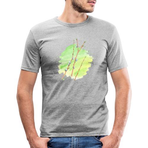 Weidenkätzchen - Männer Slim Fit T-Shirt