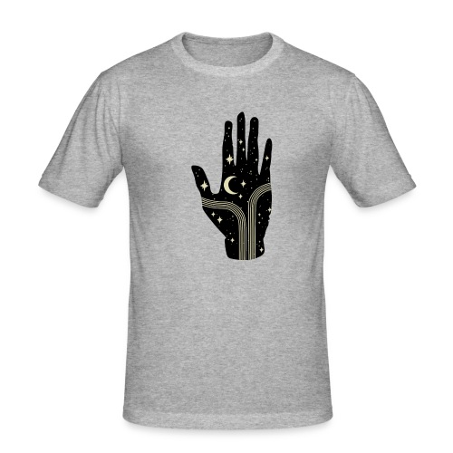 its all in your hand moon - Mannen slim fit T-shirt
