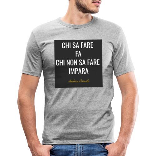 Ciraolo - Maglietta aderente da uomo