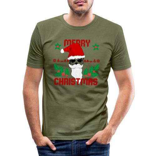 Merry Christmas Skull - Männer Slim Fit T-Shirt