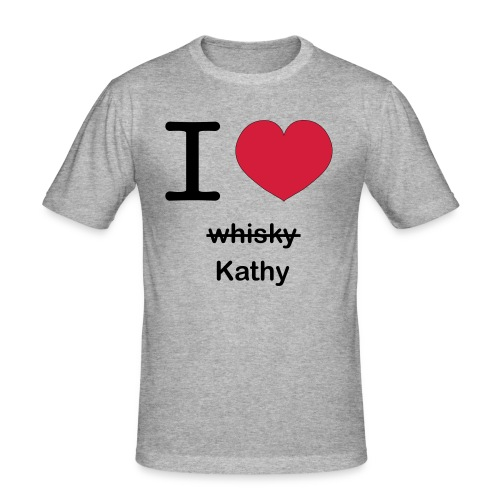 ilovekathy - Mannen slim fit T-shirt