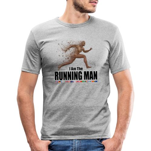 I am the Running Man - Sportswear for real men - Men's Slim Fit T-Shirt