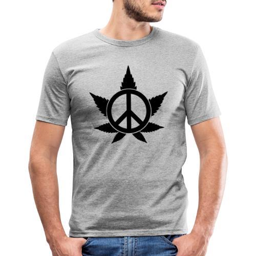 Peace - Männer Slim Fit T-Shirt