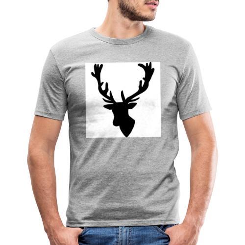 Hirch B - Männer Slim Fit T-Shirt