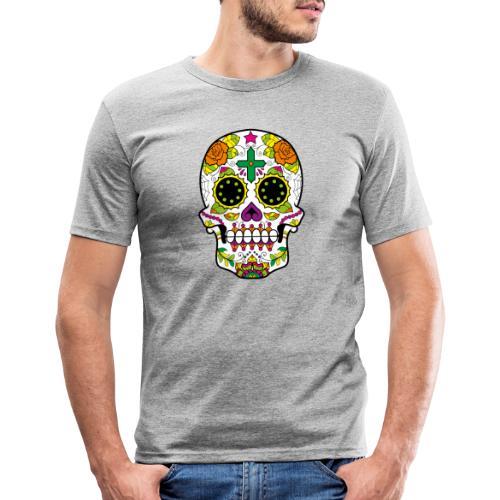 skull4 - Maglietta aderente da uomo