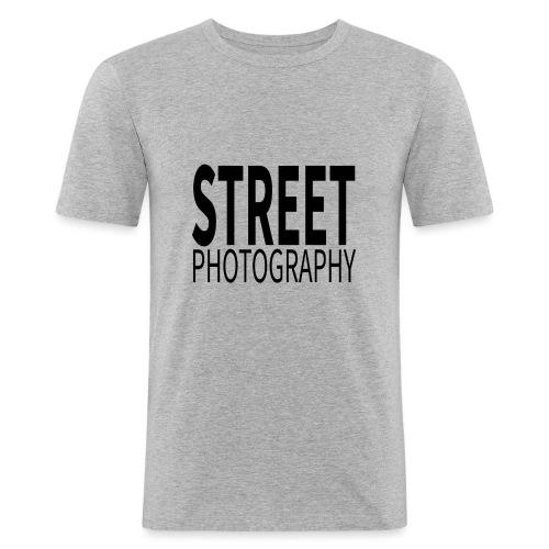 Street photography Black - Maglietta aderente da uomo