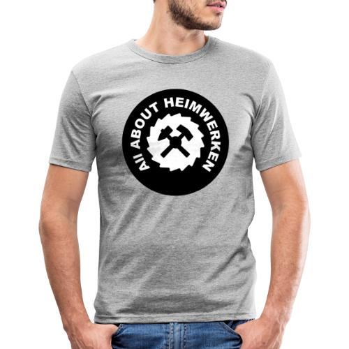 ALL ABOUT HEIMWERKEN - LOGO - Männer Slim Fit T-Shirt