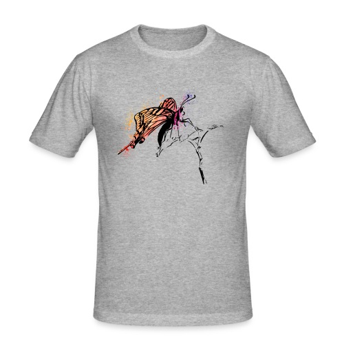 Schmetterling in Aquarelloptik - Männer Slim Fit T-Shirt
