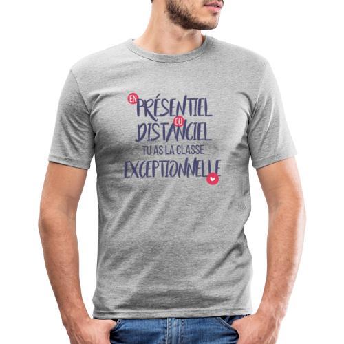 Présentiel, distanciel, exceptionnel(-le) - T-shirt près du corps Homme