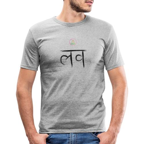 LOve SansKrit Black - T-shirt près du corps Homme