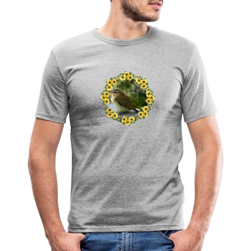 Vögelchen im Blumenkranz - Männer Slim Fit T-Shirt
