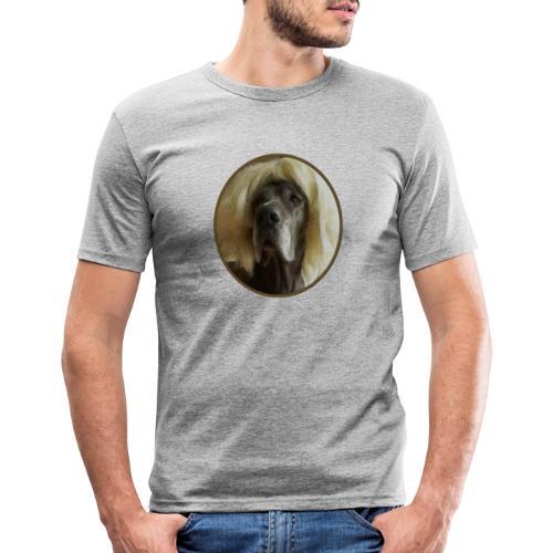 D O G G E mit Perücke - Männer Slim Fit T-Shirt