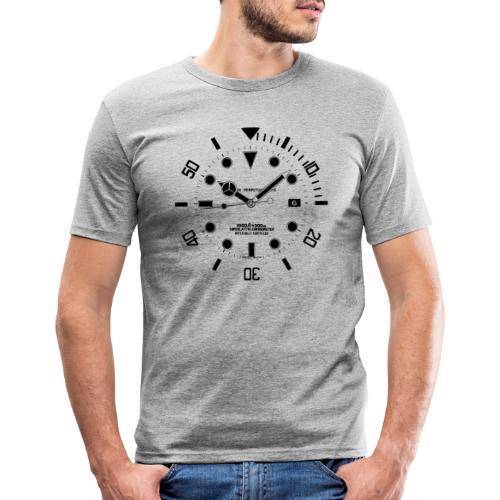 Submarine Luxury Watch Dial Details - Men's Slim Fit T-Shirt