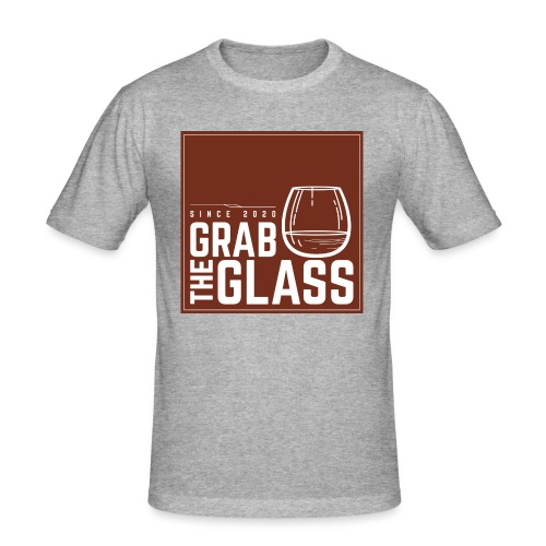Grabtheglass LOGO - Männer Slim Fit T-Shirt