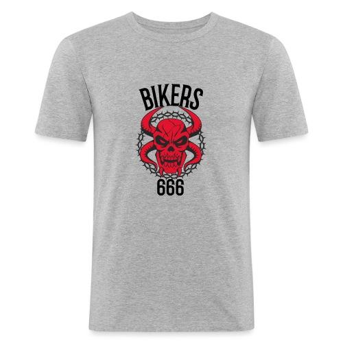 biker devil - T-shirt près du corps Homme
