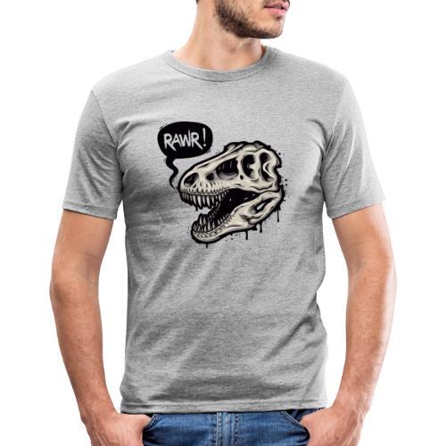 DINO RAWR 1 - Camiseta ajustada hombre