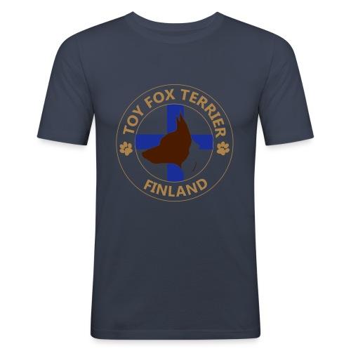 Toy Fox Terrier- Finland - Miesten tyköistuva t-paita