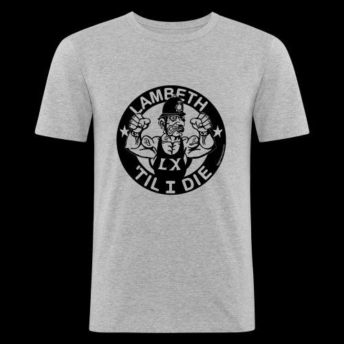 LAMBETH - BLACK - Men's Slim Fit T-Shirt