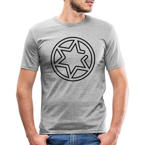 Gnisten Ry (sort tryk - uden tekst) - Herre Slim Fit T-Shirt