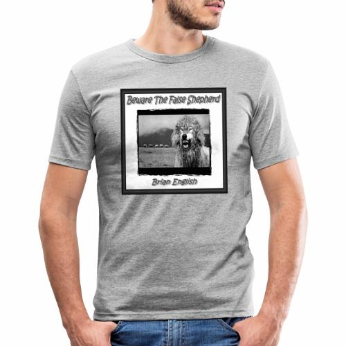 Brian English - Beware The False Shepherd - Men's Slim Fit T-Shirt