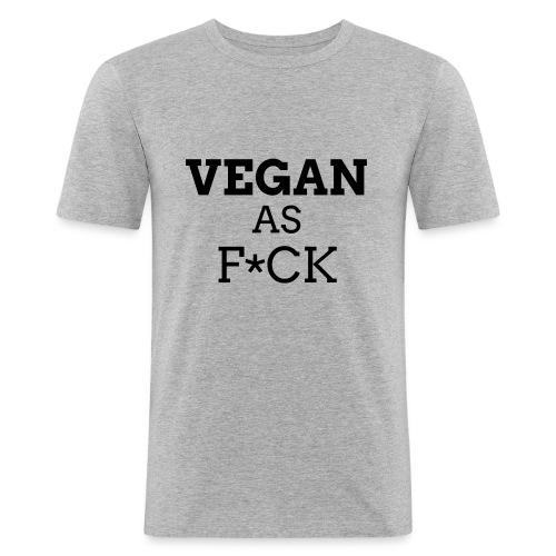 Vegan as Fuck (propre) - T-shirt près du corps Homme