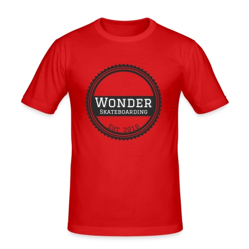 Wonder Longsleeve - round logo - Herre Slim Fit T-Shirt