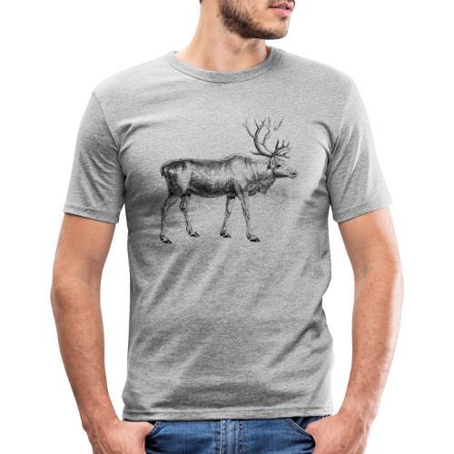 Cervus tarandusm, Rentier, Reindeer, oh my deer - Männer Slim Fit T-Shirt